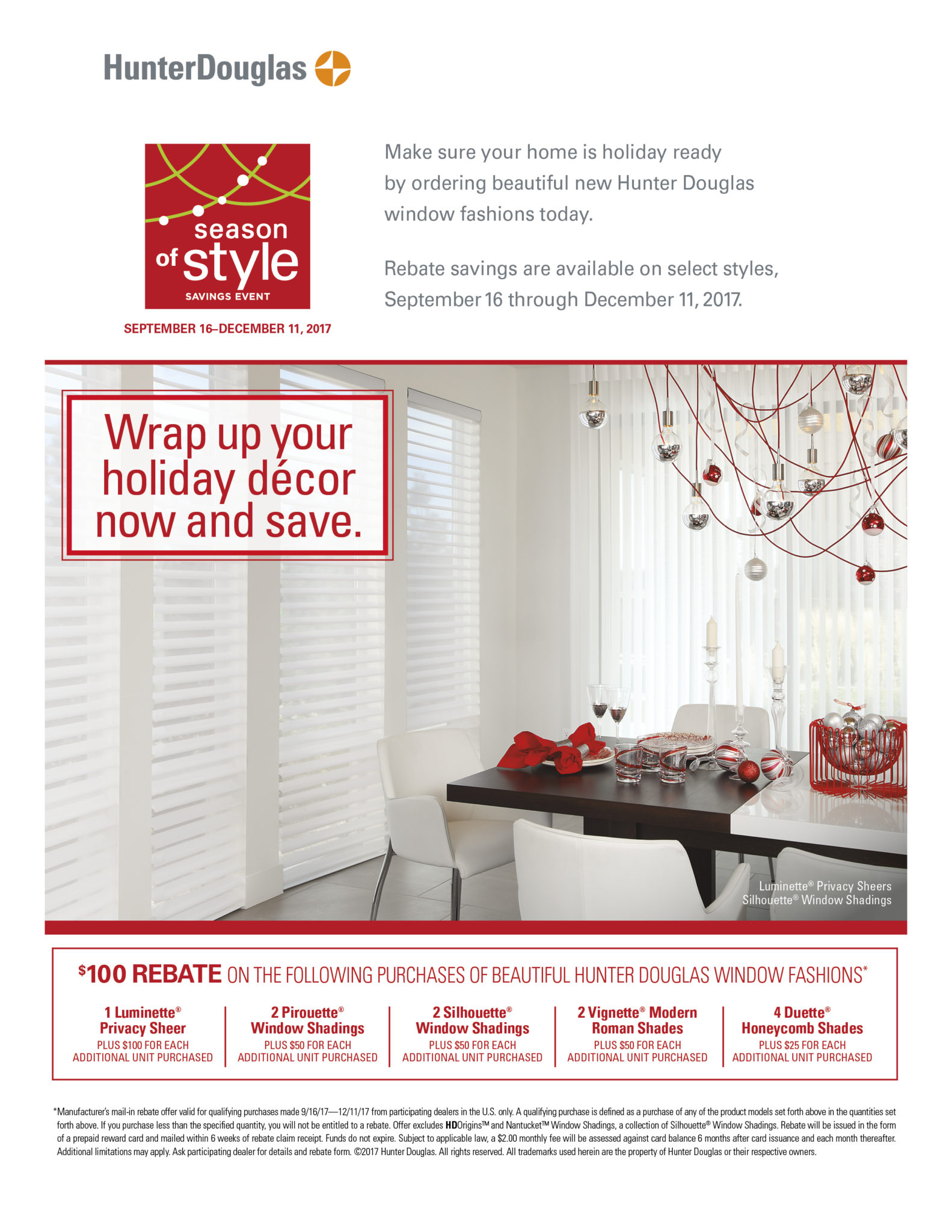 Hunter Douglas Season of Style Event